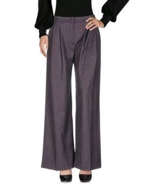 Повседневные брюки TROU AUX BICHES. Цвет: красно-коричневый