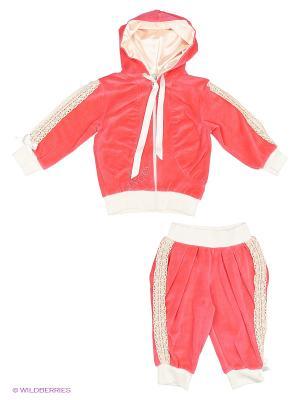 Велюровый костюм babyAngel. Цвет: малиновый