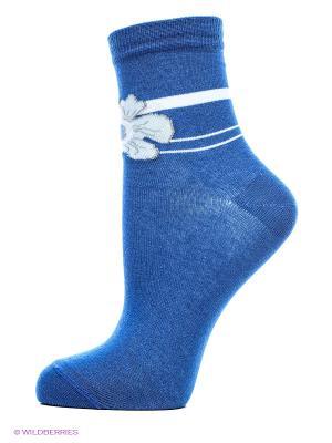 Носки, 2 пары Cascatto. Цвет: синий