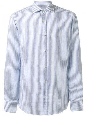 Рубашка в полоску Danolis. Цвет: синий