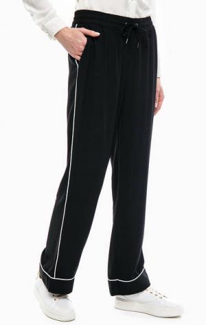 Черные трикотажные брюки на резинке b.young. Цвет: черный
