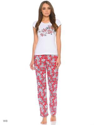 Пижама Infinity Lingerie. Цвет: белый, красный