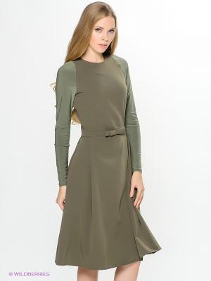 Платье ELENA FEDEL. Цвет: зеленый