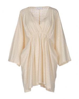 Короткое платье WEILI ZHENG. Цвет: слоновая кость