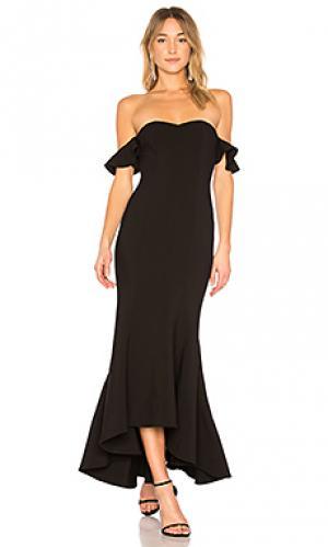 Вечернее платье с открытыми плечами sunset LIKELY. Цвет: черный
