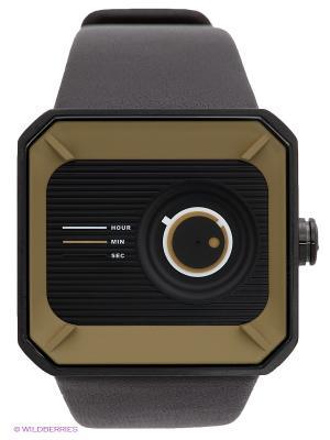 Часы TACS. Цвет: черный, темно-коричневый