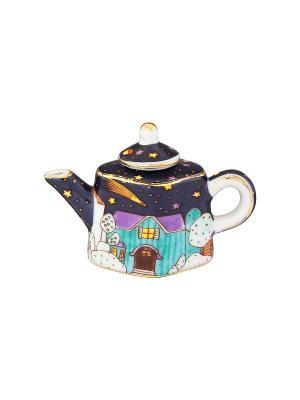 Сувенир-чайник Звездная ночь Elan Gallery. Цвет: синий, бирюзовый