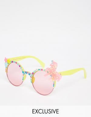 Spangled Солнцезащитные очки в желтой оправе Unicorn