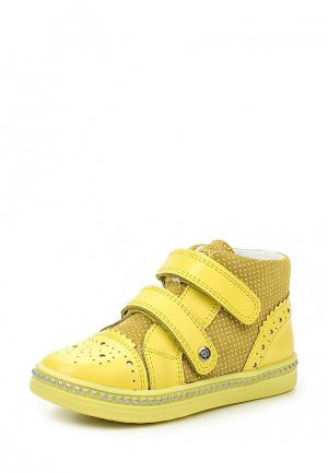 Ботинки Bartek. Цвет: желтый