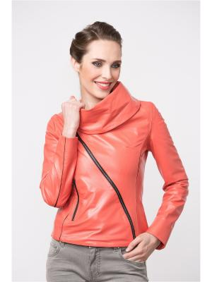Кожаная куртка MONDIAL. Цвет: терракотовый