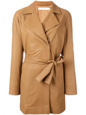 Куртка с поясом Drome. Цвет: коричневый
