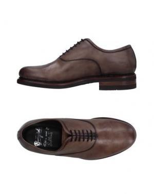 Обувь на шнурках BORGIOLI. Цвет: хаки