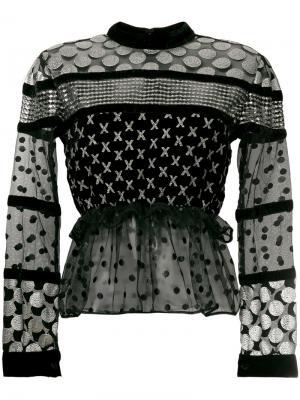 Блузка с миксом принтов Dodo Bar Or. Цвет: чёрный