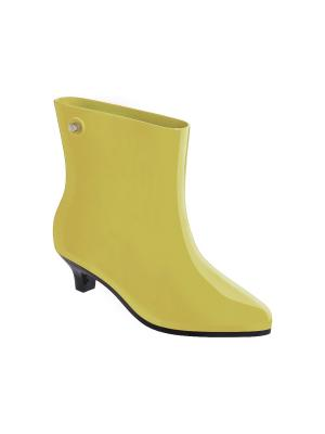 Резиновые сапоги Melissa. Цвет: желтый