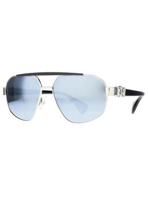 Солнцезащитные очки Dakota Smith. Цвет: серебристый