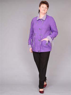 Куртка nasha. Цвет: фиолетовый, белый