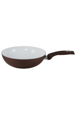 Сковорода 28 см Bialetti. Цвет: коричневый, белый