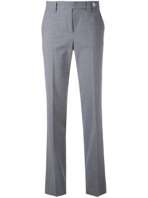 Классические брюки Kiton. Цвет: серый