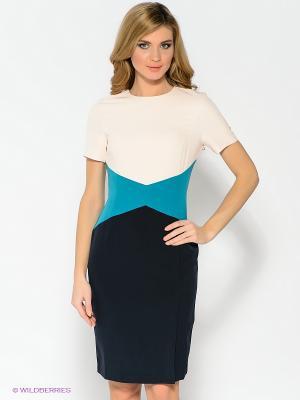 Платье Pompa. Цвет: розовый, черный, голубой