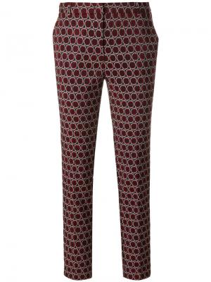 Slim-fit woven circle trousers Kiltie. Цвет: многоцветный