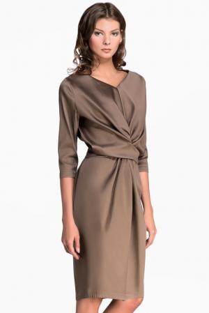 Платье из шелка 119039 Iya Yots. Цвет: коричневый