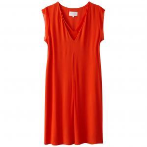 Платье прямое с короткими рукавами воланами SUD EXPRESS. Цвет: коралловый