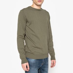 Пуловер с круглым вырезом 100% хлопка La Redoute Collections. Цвет: зеленый хаки,розовый