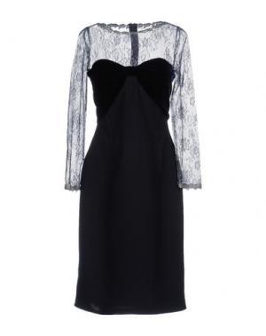 Платье до колена CAILAN'D. Цвет: темно-синий