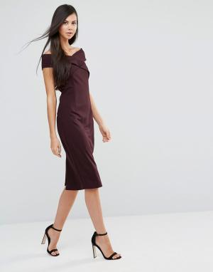 Finders Keepers Платье с открытыми плечами Be Still. Цвет: фиолетовый