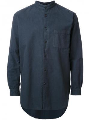 Фланелевая рубашка с воротником-стойкой Gold. Цвет: синий