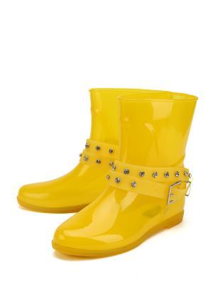 Резиновые сапоги KEDDO. Цвет: желтый