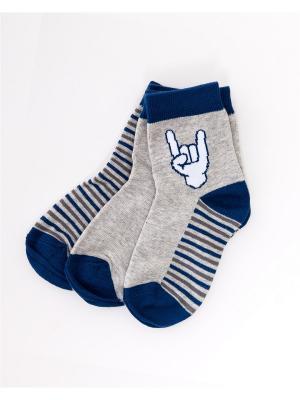 Носки, 3 пары Mark Formelle. Цвет: синий, белый, серый