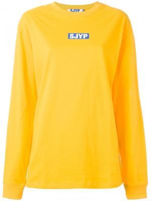 Толстовка с принтом-логотипом Steve J & Yoni P. Цвет: жёлтый и оранжевый