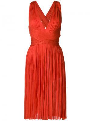 Платье Grace Maria Lucia Hohan. Цвет: красный