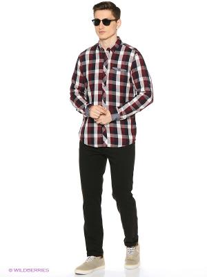 Рубашка Reserved. Цвет: бордовый