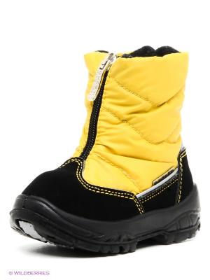 Дутики Alaska Originale. Цвет: желтый, черный