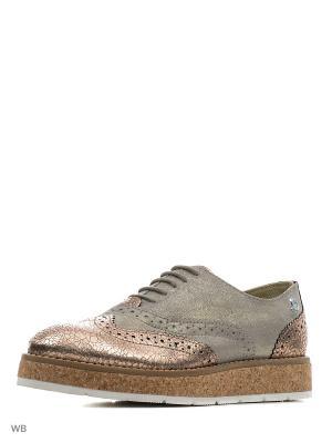 Ботинки S.OLIVER. Цвет: розовый, золотистый