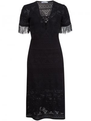 Платье крючком c V-образным вырезом A.L.C.. Цвет: чёрный