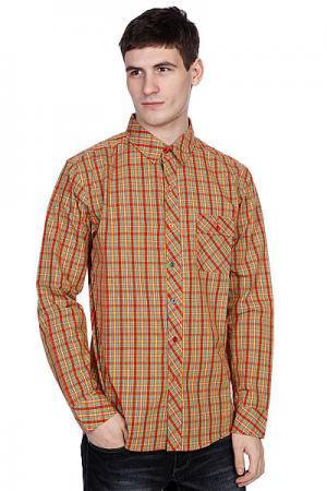 Рубашка в клетку  Plaid Out Spectrum Enjoi. Цвет: желтый,красный,синий