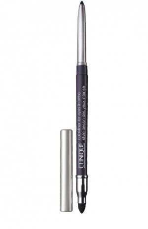 Автоматический карандаш для глаз с растушевкой, оттенок Intense Plum Clinique. Цвет: бесцветный