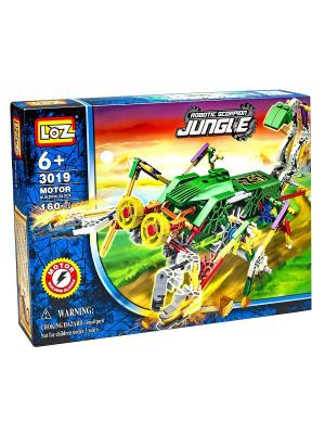 Электромеханический конструктор IROBOT. Серия: Джунгли. Скорпионозавр Loz. Цвет: синий