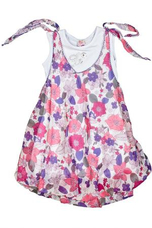 Платье, платок Lilax Baby. Цвет: фиолетовый