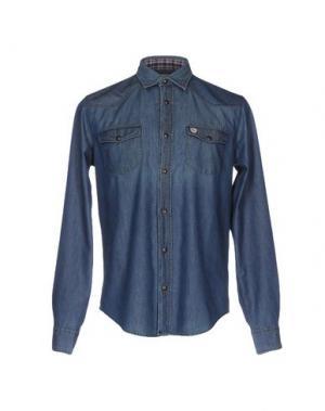 Джинсовая рубашка HENRY COTTON'S. Цвет: синий