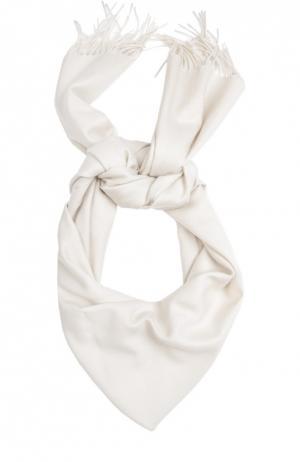 Кашемировый шарф с бахромой Piacenza Cashmere 1733. Цвет: светло-бежевый