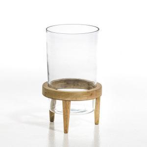 Террариум Bocage из стекла и мангового дерева, диаметр 20 см AM.PM.. Цвет: черный