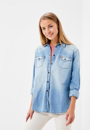 Рубашка джинсовая Rifle. Цвет: голубой