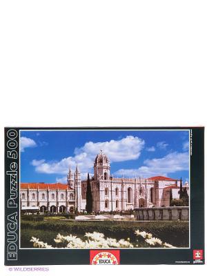 Пазл 500 деталей Монастырь св. Иеронима, Лиссабон Educa. Цвет: голубой, темно-зеленый, черный