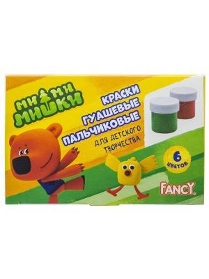 Краски пальчиковые FANCY,  6цветов Action!. Цвет: красный, желтый, зеленый