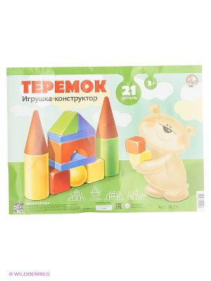 Теремок-21 эл. в пвх сумке Десятое королевство. Цвет: желтый, зеленый, красный, синий