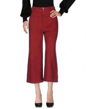 Повседневные брюки EMMA&GAIA. Цвет: красно-коричневый